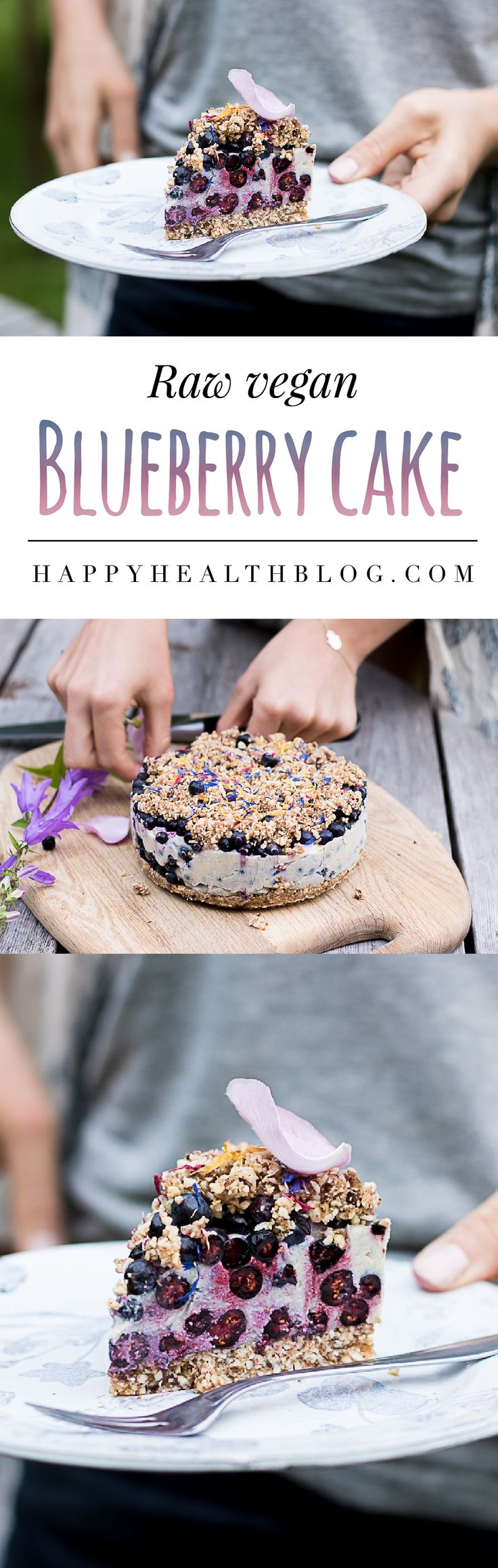 Raw blueberry cake - The blueberry season in Sweden runs from June to September. Here is a lovely raw food cake that makes the most of fresh blueberries! Raw blueberry cake  A few months back, during summer, I had such an amazing day with my lovely friend Evelina! We spent the day in the Swedish forest, hanged out at her place, baked a raw cake with our freshly picked blueberries and enjoyed her lovely garden! I'm a real city-rat! I can probably count the times I have been in the woods on…