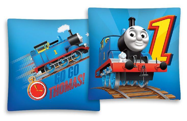 Povlak na polštář pro děti s motivem vláčku Thomase