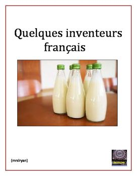 This Internet activity allows students to research French inventors in history.  Also included are some Suisse, Belgian and French Canadian inventors.  Inventors span from the 1600s to the 1970s.  more than 30 inventors!  Included in this project are a Student Project Directions sheet and a teachers sheet with the inventors listed, their invention and the year that it was discovered.