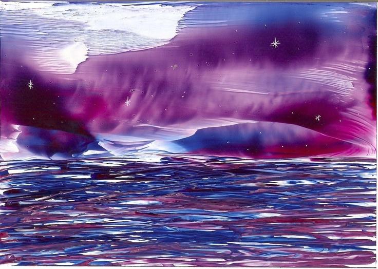 stormy waters one of my encaustic art paintings