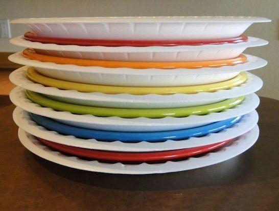 упаковка тарелок