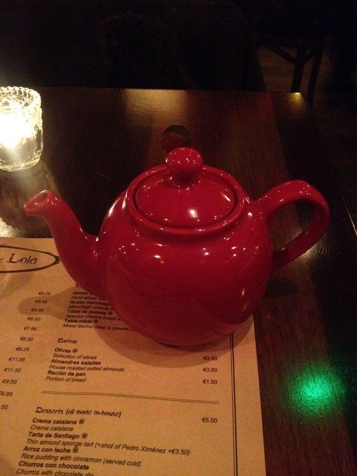 Cheery cherry teapot Tapas de Lola, Wexford Street, Dublin #tea #food #dining