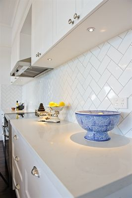 Shaftesbury Kitchens Brisbane Caesarstone Frosty Carrina