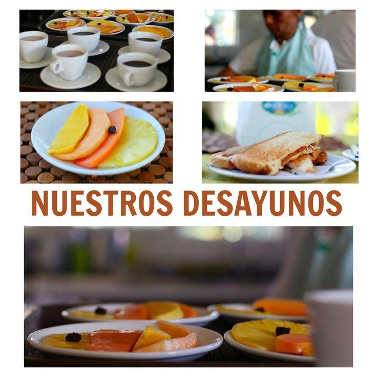 Una pequeña muestra de lo que son los deliciosos #desayunos en la #HosteríaMarySol  Preparados con amor para hacer feliz a nuestros #huéspedes.
