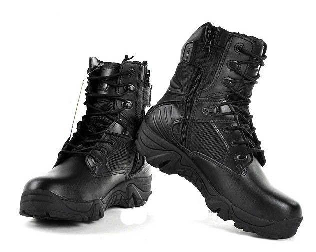 Размер США 6-12 Армия Походы Путешествия Botas Кожаные Ботинки Осень Лодыжки Мужчины Сапоги Мужские Черные Военные Ботинки