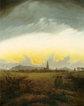 Caspar David Friedrich - Neubrandebourg dans le brouillard de matin