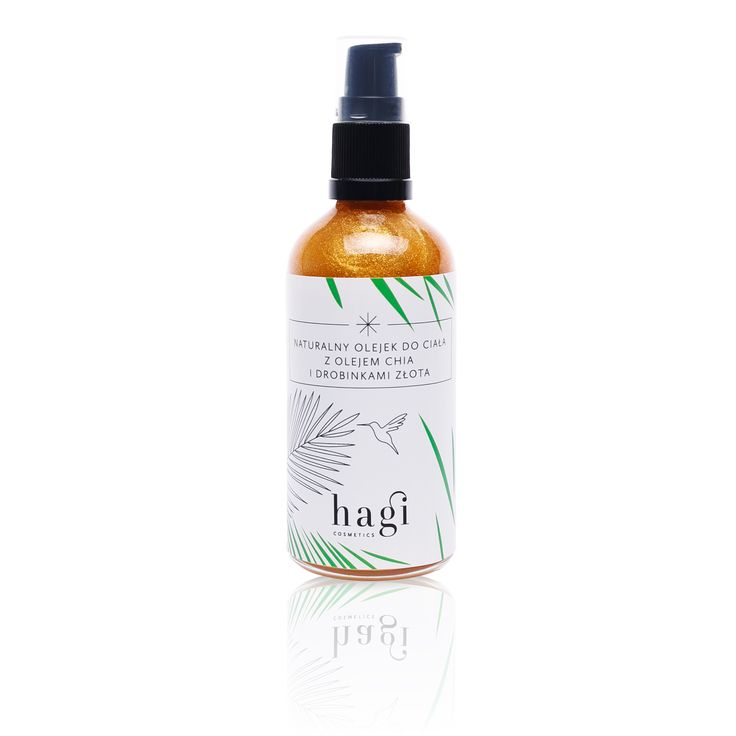 Naturalny olejek do ciała z olejem chia i drobinkami złota - Hagi Cosmetics