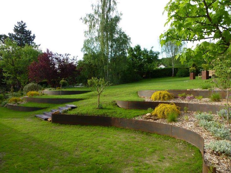 Aménagez votre pelouse en terrasses avec de bordures de jardin EverEdge.