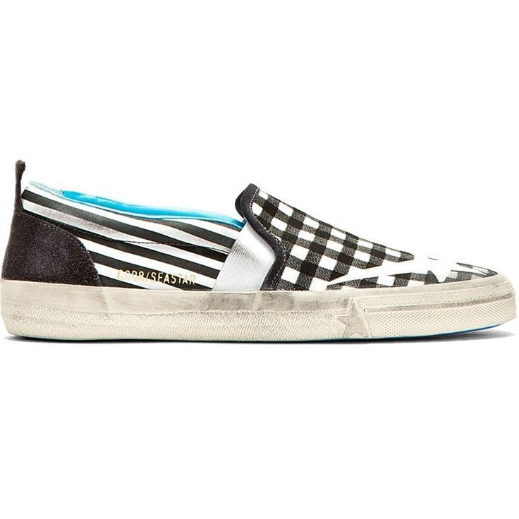 Golden Goose Deluxe Brand Seastar - Check Black White
