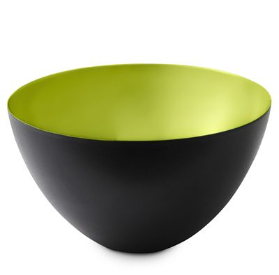 Normann Copenhagen Krenit Skål. 25 cm. Sort/Lime