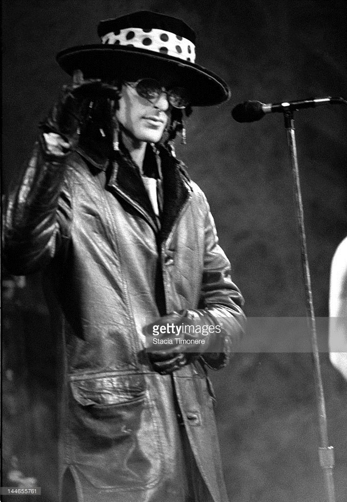 Singer Perry Farrell performs on stage with American rock band Jane's Addiction at Metro in Chicago, Illinois, 23rd November 1988.