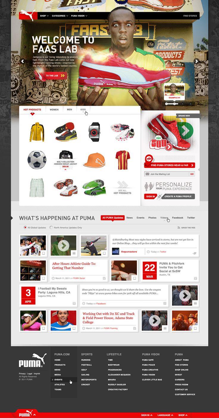 PUMA.com Redesign - Owen Shifflett : Design, Illustration, & Art Direction