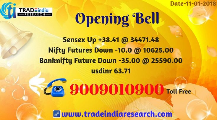 Stock Market #Openingbell #Sensex #Bank #Nifty  #equity #Commodity #stocks #market  #news  currency, depository, online #trading mutual funds #TradeIndia #Research opening Bell Update  - 11th  January 2018 By TradeIndia Research