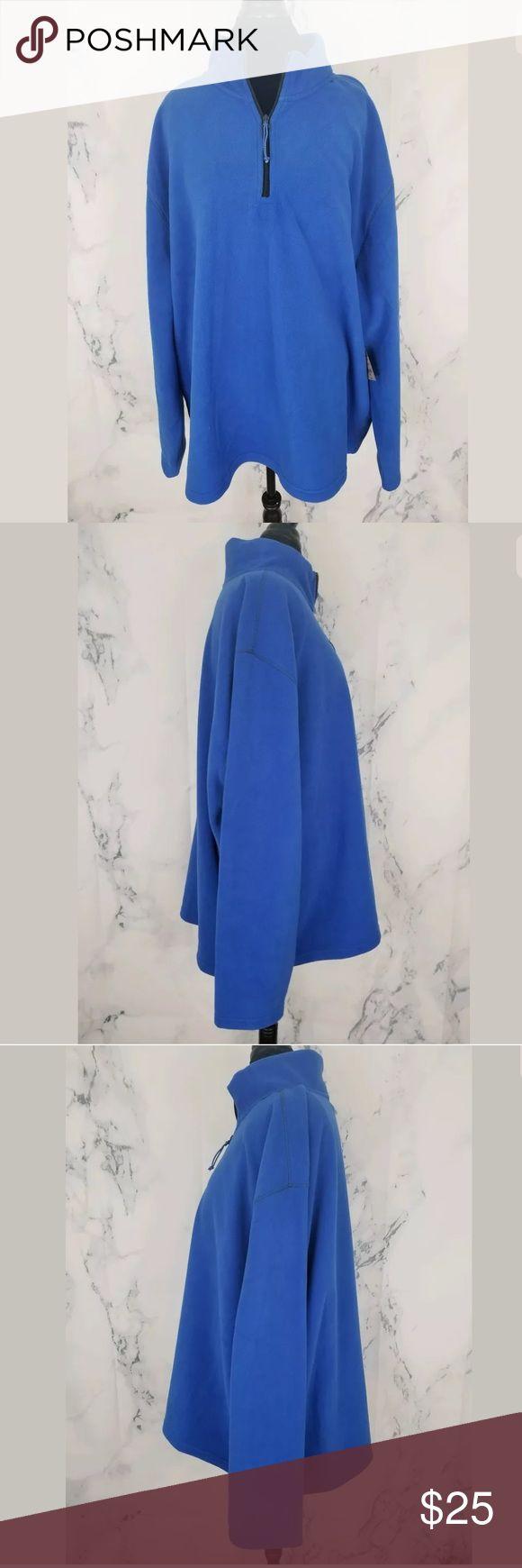 FOUNDRY BIG & TALL MENS SZ 4XL BLUE FLEECE FOUNDRY BIG & TALL MENS SZ 4XL BLUE FLEECE 1/4 ZIP FLEECE PULLOVER SWEATER NWT 100% Polyester Foundry Jackets & Coats
