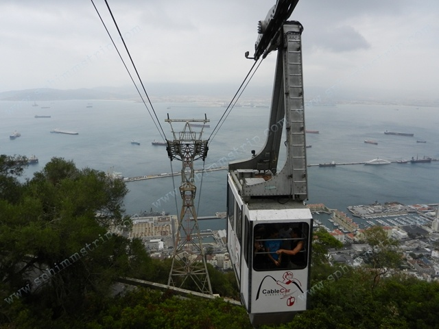 Funicolare che conduce alla vetta della Rocca di Gibilterra - Regno Unito - Funicular to the top of the Rock of Gibraltar - United Kingdom
