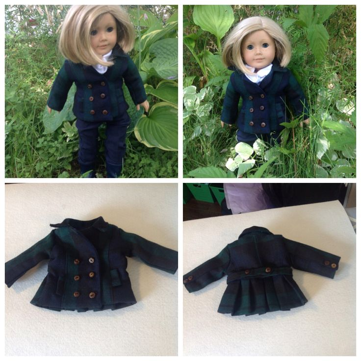 I know it seems early, after all, it's only August! But, back to school means fall is just around the corner!  Getting ready for those cooler days with this gorgeous 100% wool Peacoat. The details on this coat need to be seen to be believed! Working buttons on double breasted front, detail buttons on cuffs and back strap, beautiful pleats at back, and to top it all off, this gorgeous coat is fully lined. She'll be toasty for sure!  Pattern by LJC. $30