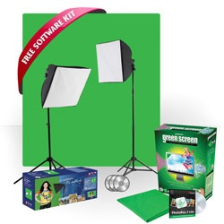 uLite Green Screen Photo Kit with Free Software Kit