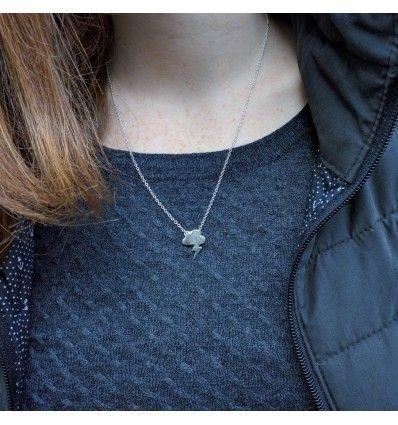 """Mini Halskette """"Blitz, Donner und Wolke"""" Unwetter-Halskette"""