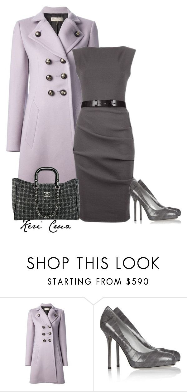 """""""Classy work outfit"""" by keri-cruz ❤ liked on Polyvore featuring Emilio Pucci, Casadei, Chanel and Sergio Rossi"""