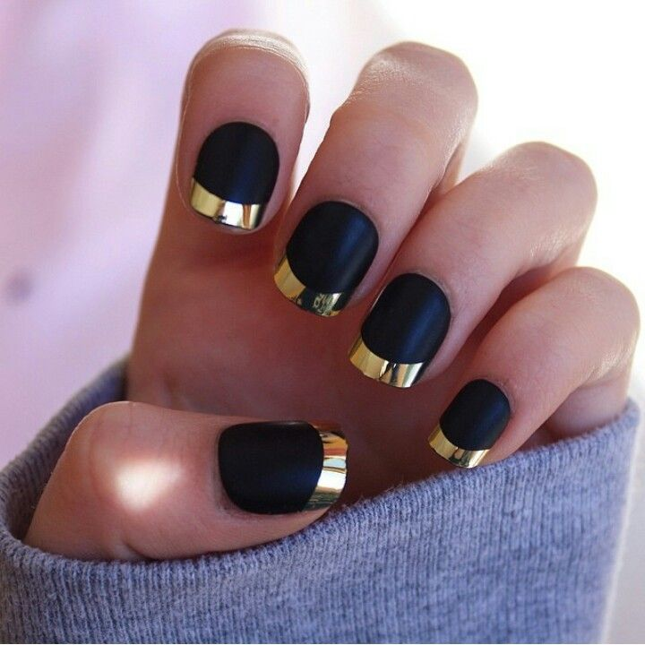 1000+ Ideas About Black Gold Nails On Pinterest