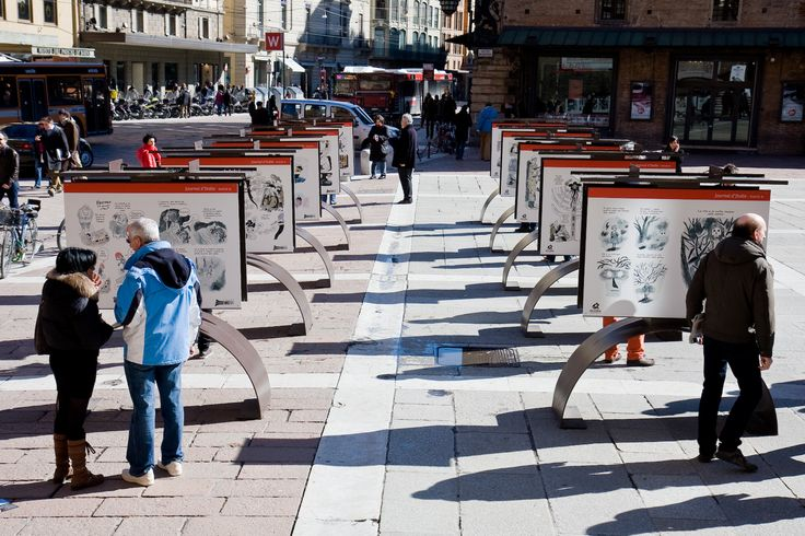 "Mostra ""Journal d'Italie"" di David B. in piazza del Nettuno"