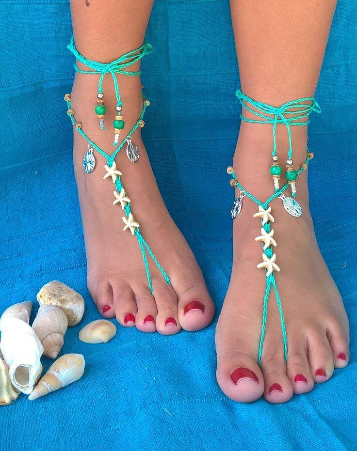 Mozambique Sea Shell Sandals,  Star Fish Barefoot Sandals, Bohemian Barefoot Sandals, Beach Boho, AhyokaAfrica on Etsy From Africa with love by AhyokaAfrica on Etsy