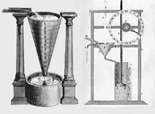 Sciences et technologies: La clepsydre, sous le nom d'horloge de l'eau. Elle pouvait indiquer l'heure, mais aussi chronométrer combien de temps une personne parlait dans une salle d'audience. La plus ancienne clepsydre date du règne d'Aménophis III, vers -1400.