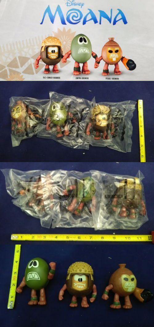 Disney Moana Kakamora Action Figures Subway Kids Meal Toys Set Of 3