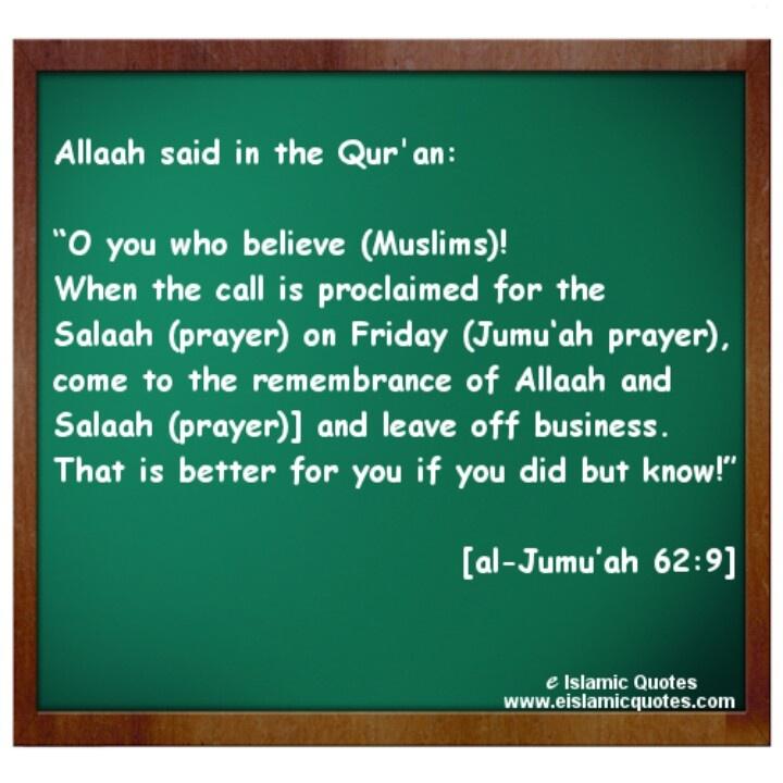 Ayat on Jummah Prayer (Friday)