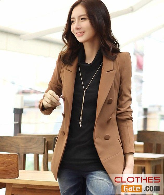 Korean Women 2012 fall and winter clothes were thin Slim double