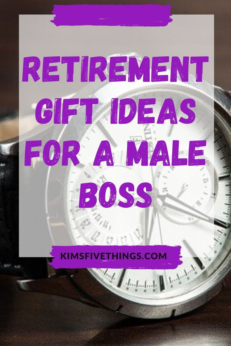 Best retirement gift ideas for a male boss best