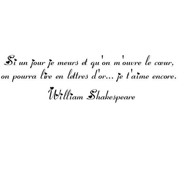 Citation D Amour William Shakespear Clecyluisvia News