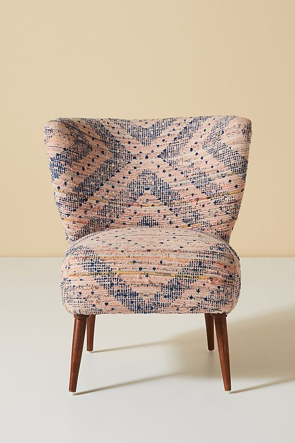 Alaris Rug Printed Petite Accent Chair With Images Accent