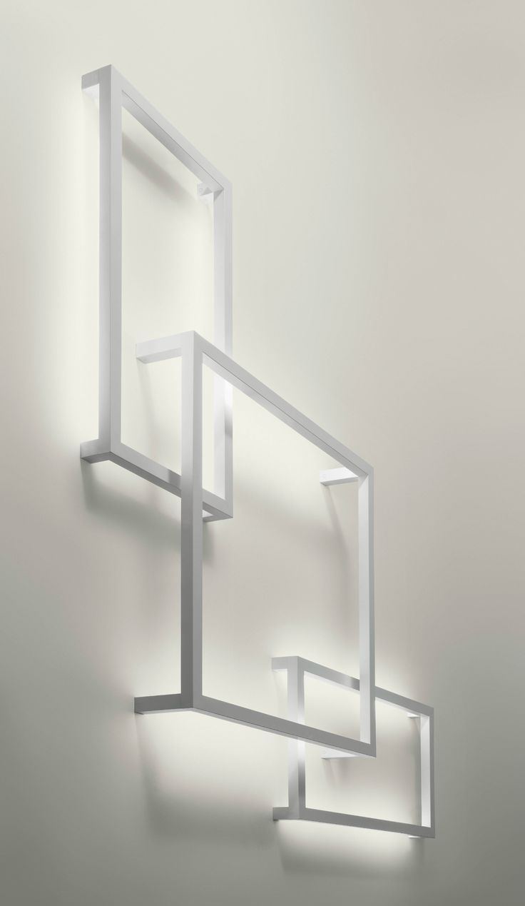 Fluorescent aluminium wall lamp FRAMEWORK Lightecture Line :: AXO LIGHT | design Manuel Vivian