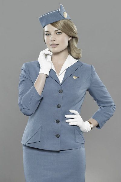 To Margot Robbie   Pan Am Stewardess . She is so sexy and pretty in her uniform - with that touch of sophisticated authority - so why not? Being bound by her was one for the memory banks!