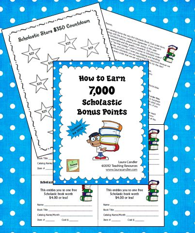Corkboard Connections: How to Earn 7000 Scholastic Bonus Points: Work, 7 000 Scholastic, Scholastic Bonus, Earn 7 000, Corkboard Connections, Scholastic Points, Bonus Points, Earn 7000, 7000 Scholastic