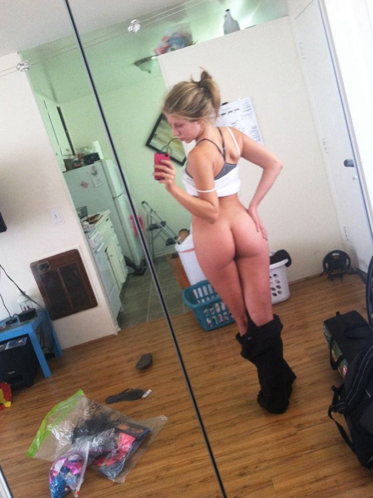 Not very Hot naked teen girl selfie ass