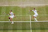 Jack Sock and Vasek Pospisil during the Gentlemen's Doubles Final