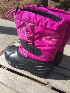 Kamik Toddler Girl Winter Boots 10 Purple Snowflakes Free SHIP | eBay