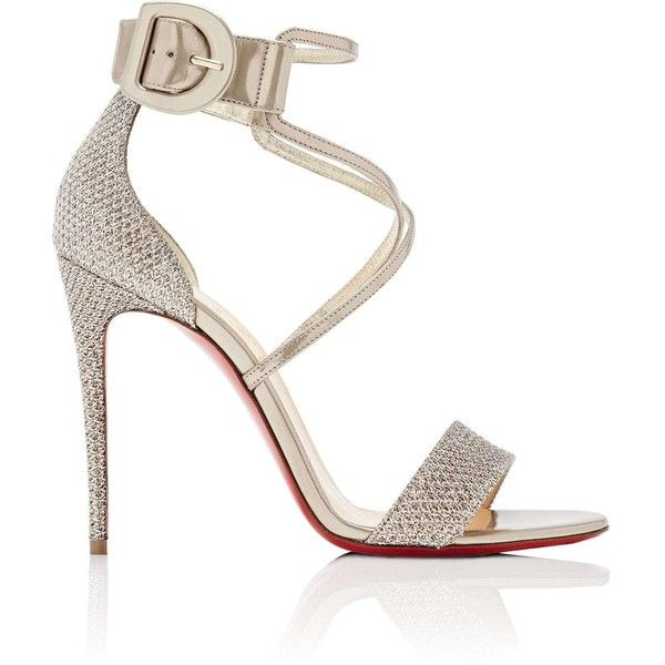 Womens Choca Specchio Leather & Mesh Sandals Christian Louboutin