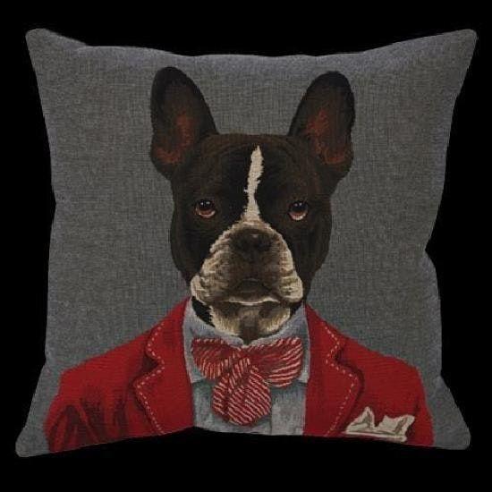 Coussin Boston Terrier - Collection AUTREMENT DIT de Novabresse - 45x45