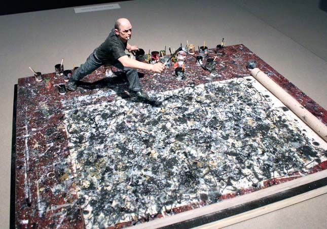 Jackson Pollock in his Brooklyn based studio. Google Image Result for http://s3files.core77.com/gallery/images/OtherWorldly-21.JPG