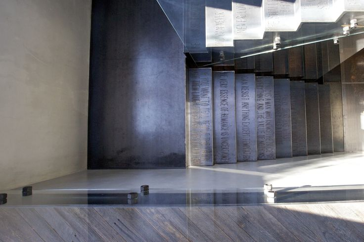 W House Metal Staircase - Bruce Stafford Architects