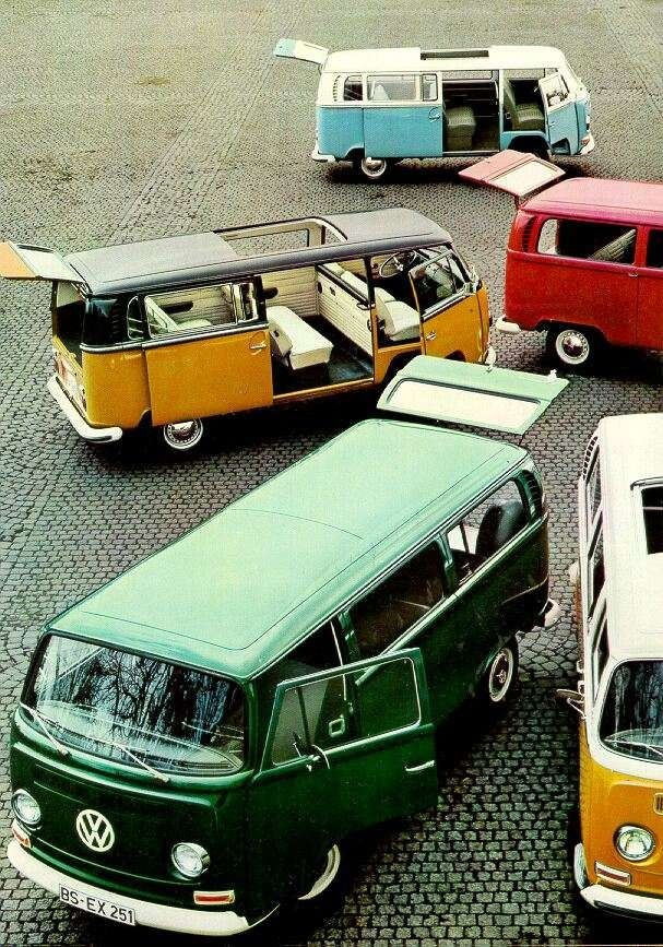 Colourful buses!