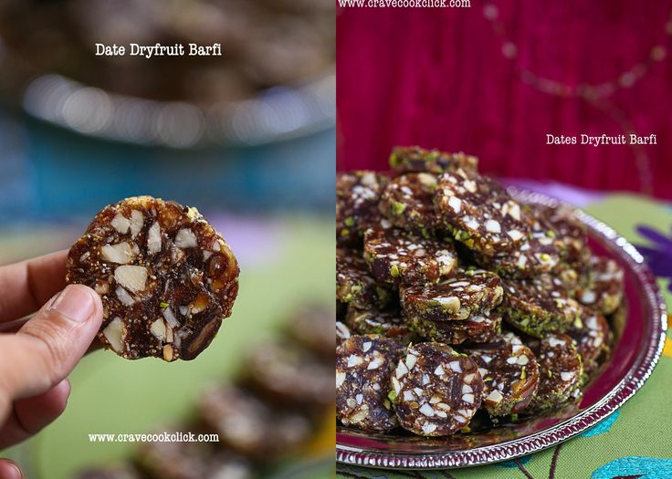Amazingly nutritious date and dry fruits barfi which is sugarless