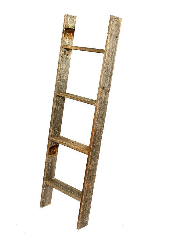 Blanket Ladder Decorative Ladder Wood Ladder Rustic Ladder Wooden Ladder Towel Ladder Quilt Ladder Multiple Sizes Colors Available Ladder Decor Wooden Bookcase Barn Wood Decor