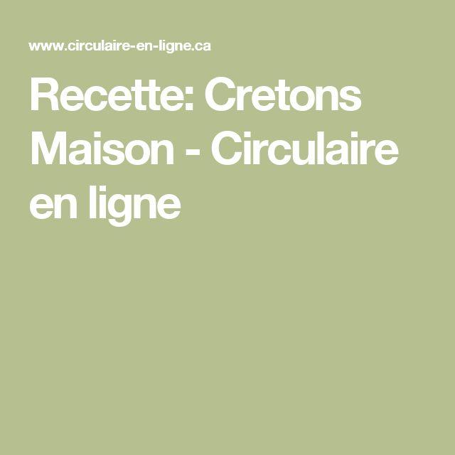 Recette: Cretons Maison - Circulaire en ligne