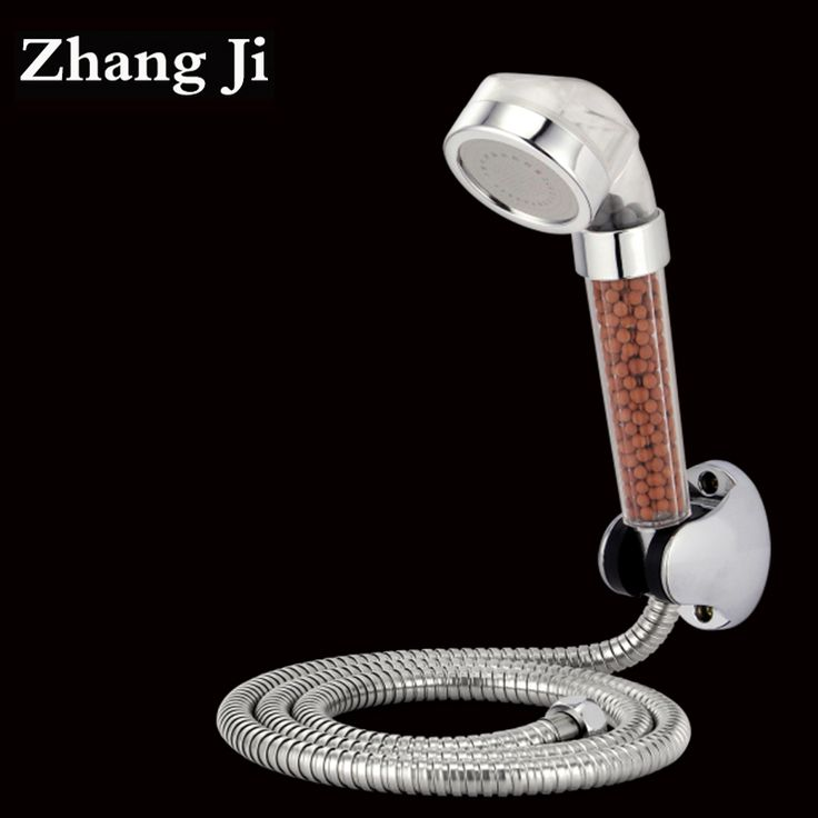 Hot Anion Water Therapy SPA High Pressure Shower Head Water Saving Filter Water Softener Shower Head Set Holder And Hose ZJ109