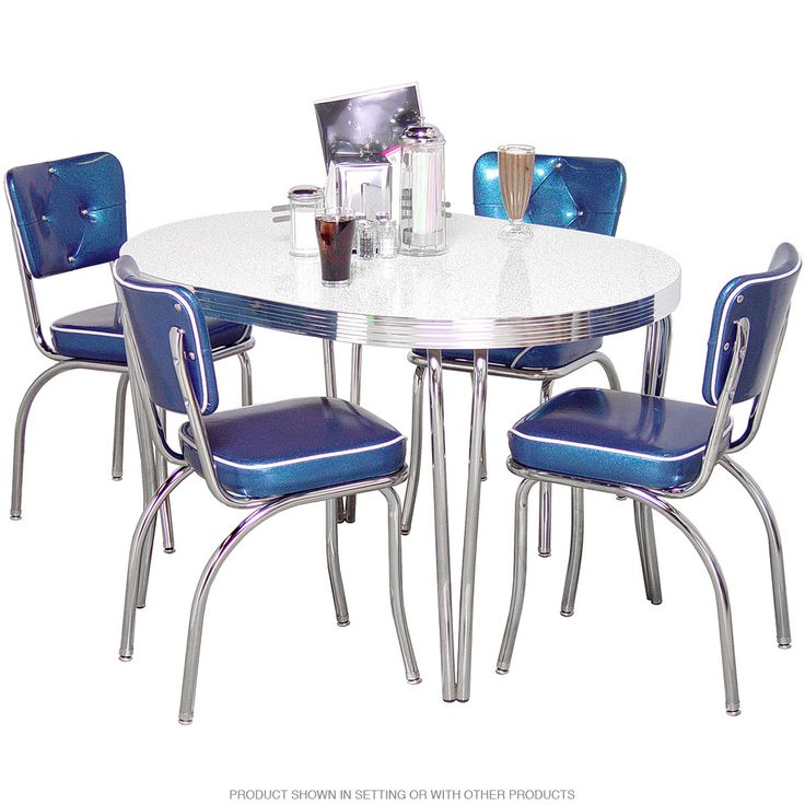 Kitchenette Dining Sets: Designer Diamond Back Dinette Set