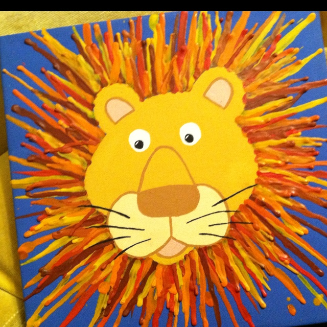 Melted Crayon Lion